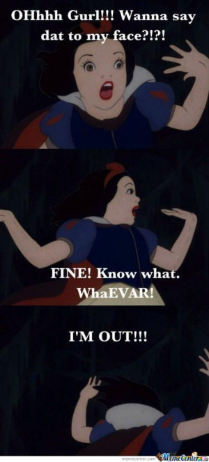 Ghetto Snow White Meme