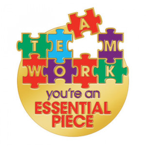 Home > Teamwork You're An Essential Piece Lapel Pin With Card