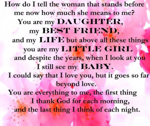 You Are My Daughter