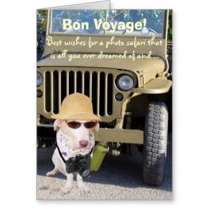 Funny Dog Bon Voyage Photo Safari Card