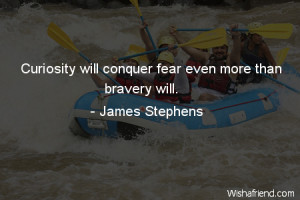 curiosity-Curiosity will conquer fear even more than bravery will.