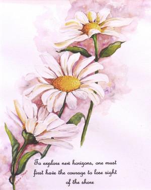 Daisy Poem Painting