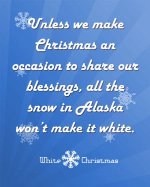 free christmas printable movie quote from white christmas