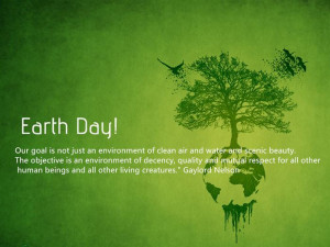 The very first Earth Day was celebrated forty-five years ago in 1970 ...
