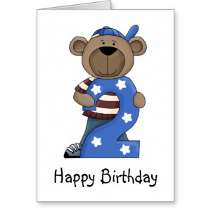 Whimsical 2 Year Old Birthday Card