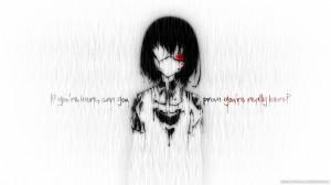 ... Anime Girl Misaki Mei In Rain Quotes Typography 1920×1080 Wallpaper