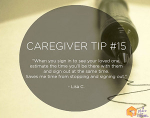 Caregiver Tip 15: Save Time by Chelsia Hart