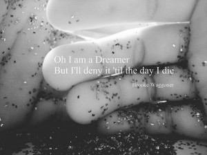 black and white, dream, dreamer, hand, photography, quote, reflection ...