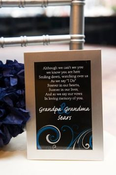 Ideas to honor deceased parent... | DIY wedding ideas and tips. DIY ...