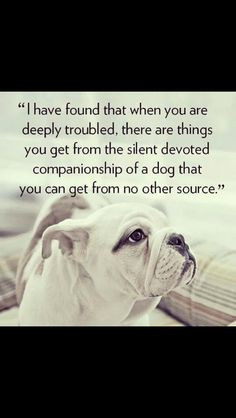 have found that when you are deeply troubled, there are things you ...