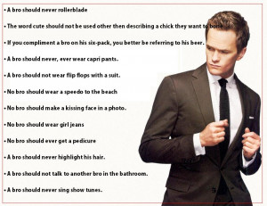 Some of the most awesome Bro Code Articles from the Legen….. ..dary ...