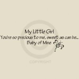 little quotes for little girls little girl wall decal all little girls ...