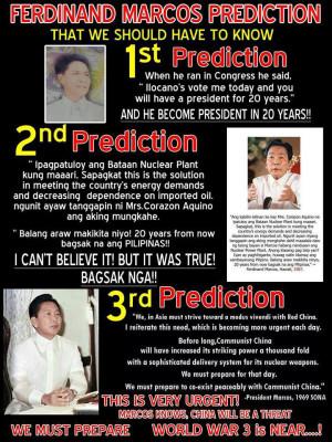 Ferdinand Marcos Prediction Anong masasabi nyo guys