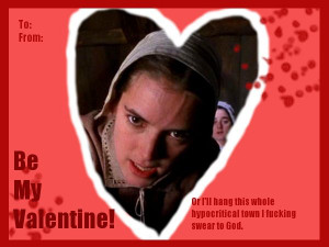 Abigail Williams valentine- the crucible