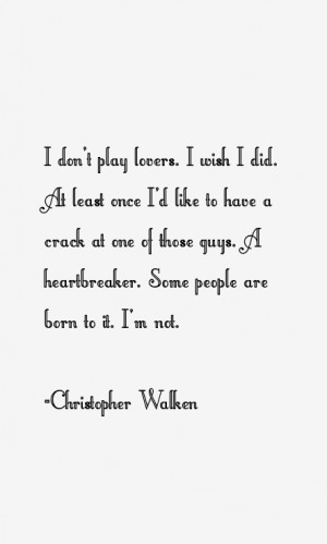 Christopher Walken Quotes & Sayings
