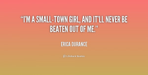 Quotes About Small Town Girls