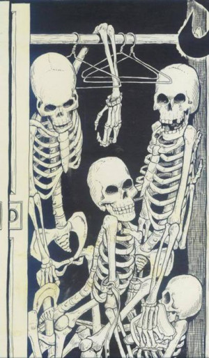 ... and White skinny skeleton bones bone closet skeletons in my closet