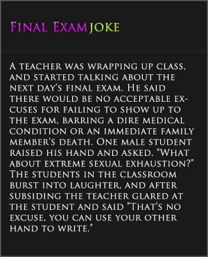 funny college final exam quotes final exam joke college quote