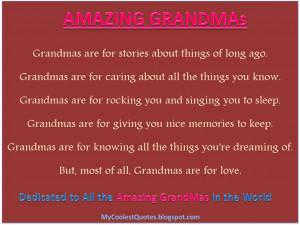 grandmas grandmas are for stories about things of long ago grandmas ...