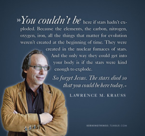 Lawrence M. Krauss on the elements and exploding stars.