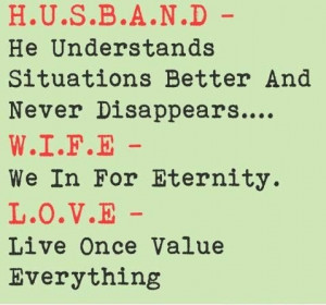 Wife Quotes To Husband ~ Husband And Wife Love Quotes | 3NTER