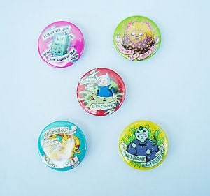 Details about Adventure Time Quotes Badge Set - Badges Costume Cosplay ...
