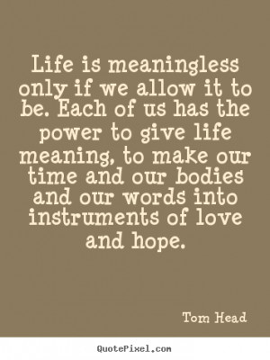 only if we allow it to be. Each of us has the power to give ...