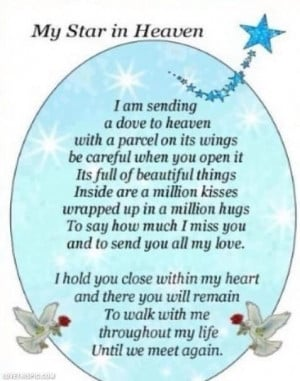 my star in heaven quotes quote heaven in memoryHappy Birthday, Mothers ...