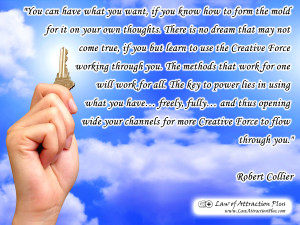 Free Law of Attraction Wallpaper with Quote by Robert Collier