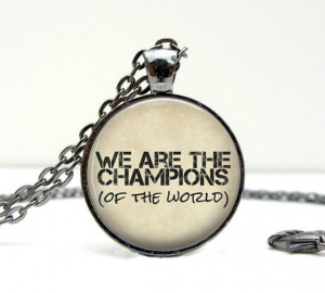Queen Quote Necklace: Freddie Mercury. 80s Music Pendant. Charms. Art ...
