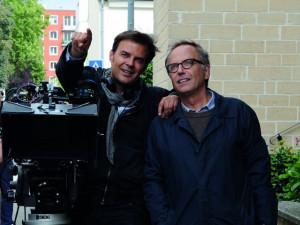 Still of Fabrice Luchini and François Ozon in Dans la maison (2012)