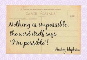 Audrey said....