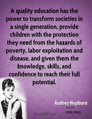 quality education has the power to transform societies in a single ...
