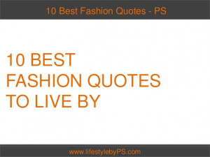 10 Best Fashion Quotes