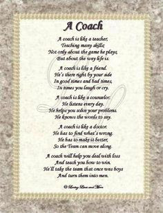 ... coach gift ideas football mom football coach poems coaches gift