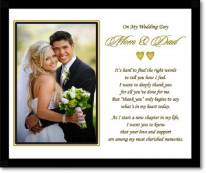 Wedding Gift - Thank You Poem from Son or Daughter in 8x10 Inch Frame ...