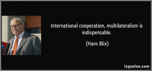 International Cooperation...
