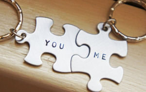 Personalized Puzzle Piece Keychain Custom Couple Best Friends ...