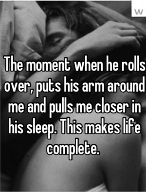 Best feeling in the world is being in his arms.