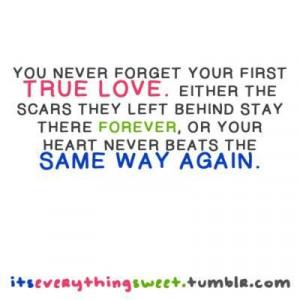 First true love quotes and sayings