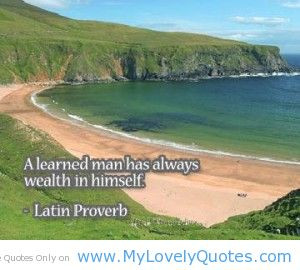 Learned Man Quotes