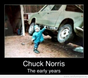 Funny Picture - Chuck norris the early years