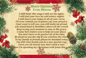 merry christmas in heaven sister