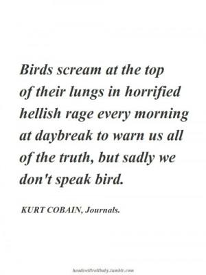 Kurt Cobain, Journals.