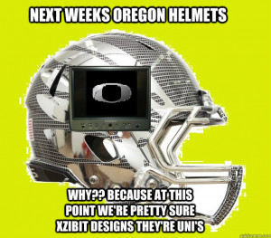 ... weeks oregon helmets why because at this point were - Oregon Ducks
