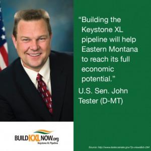 Senator John Tester says #buildKXLnow