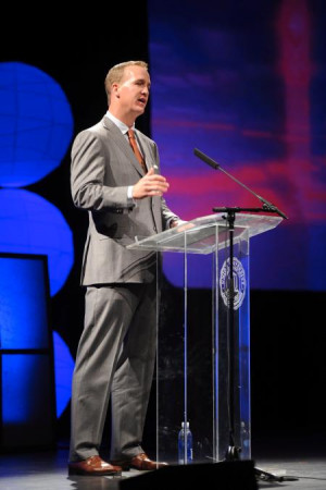 Indianapolis Colts quarterback Peyton Manning offered lessons from ...