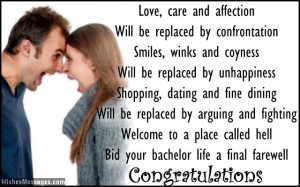 Funny wedding card poems: Congratulations for wedding
