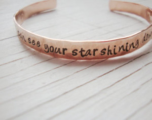 can see your star shining down on me hammered hand stamped copper ...