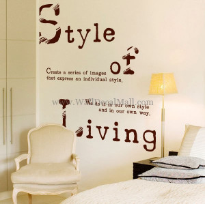 home wall decals quote style of living quote wall decals